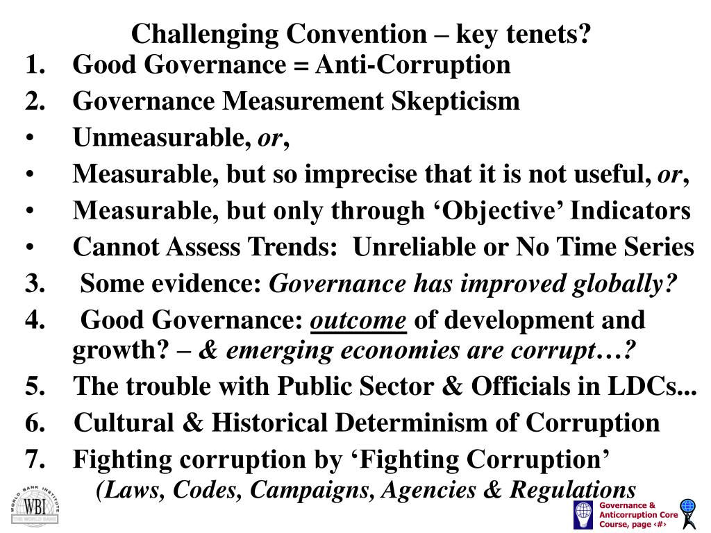 Challenging Convention – key tenets?
