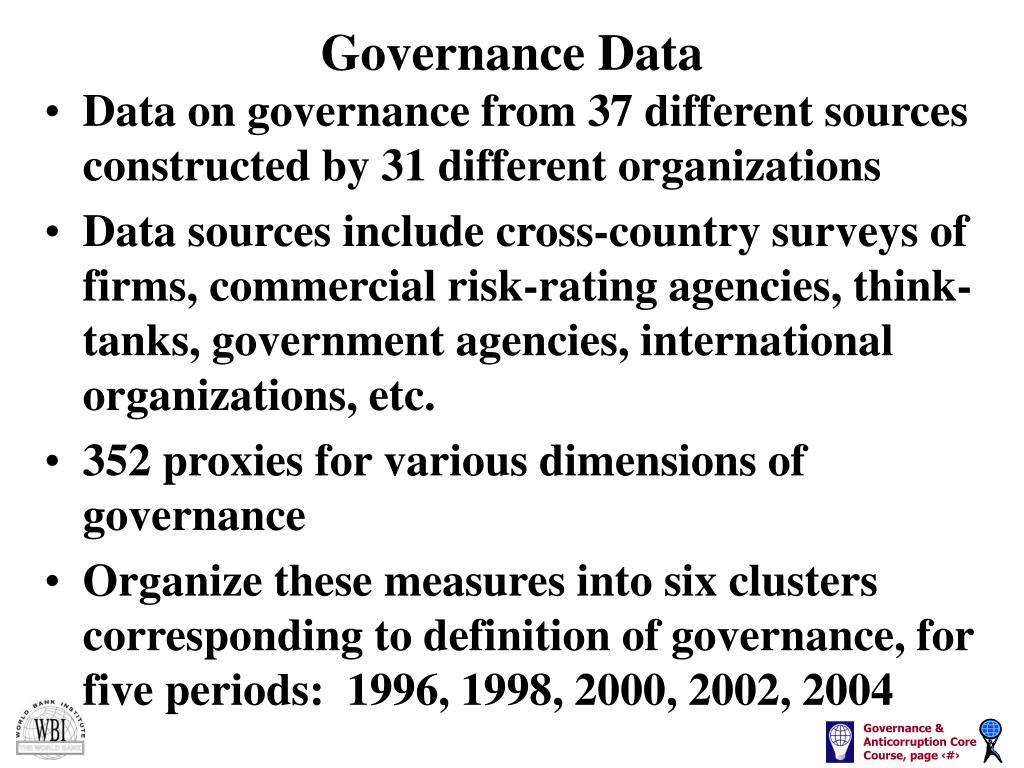 Governance Data