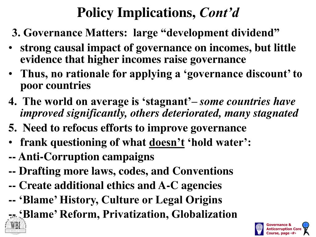 Policy Implications,