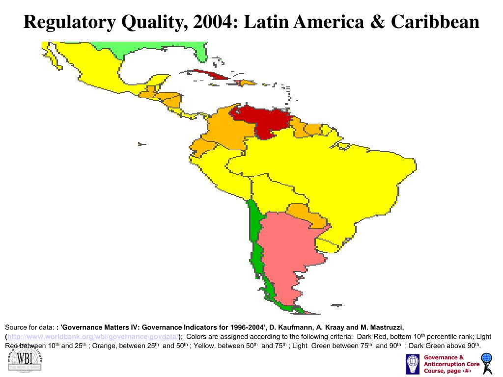 Regulatory Quality, 2004: Latin America & Caribbean