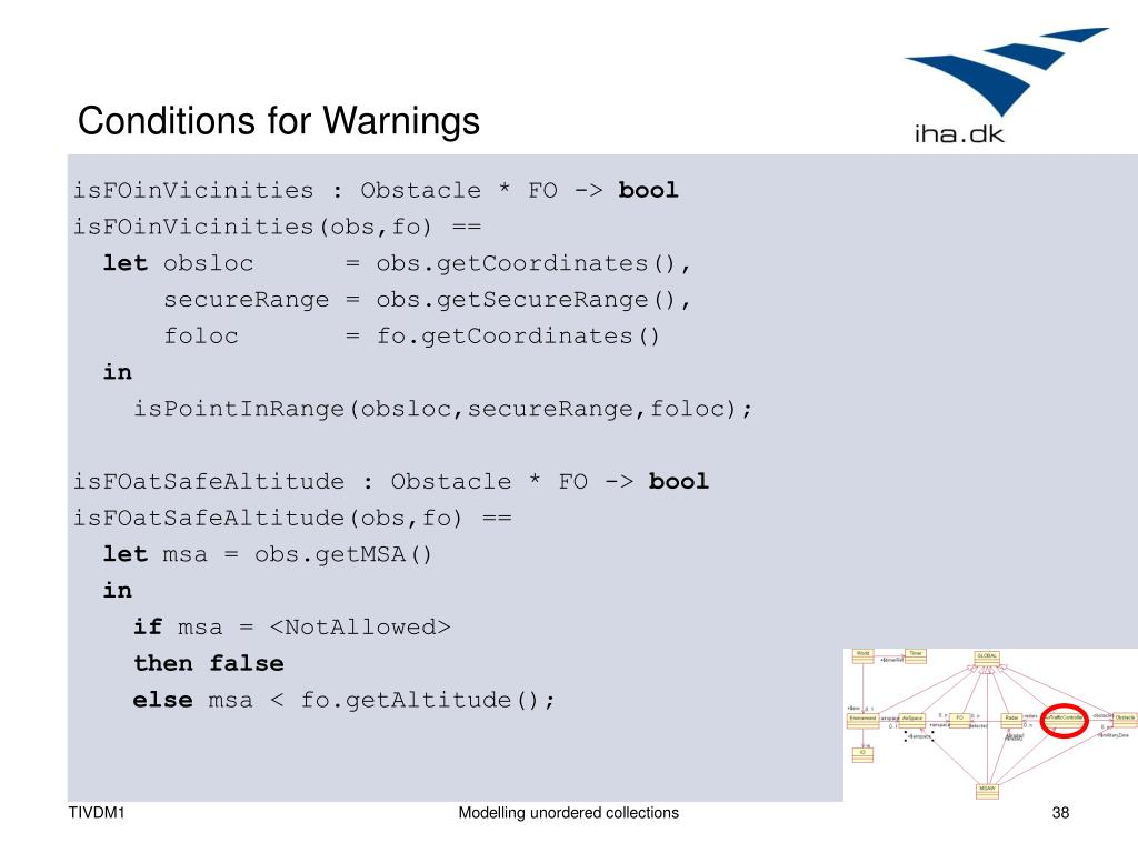 Conditions for Warnings