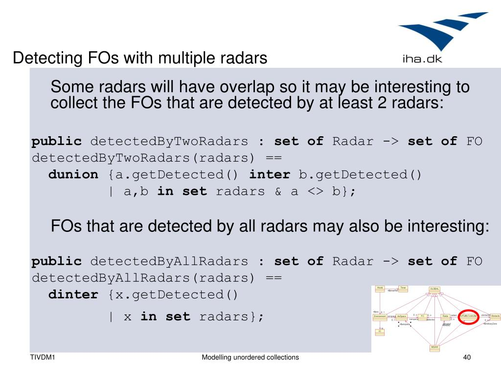 Detecting FOs with multiple radars