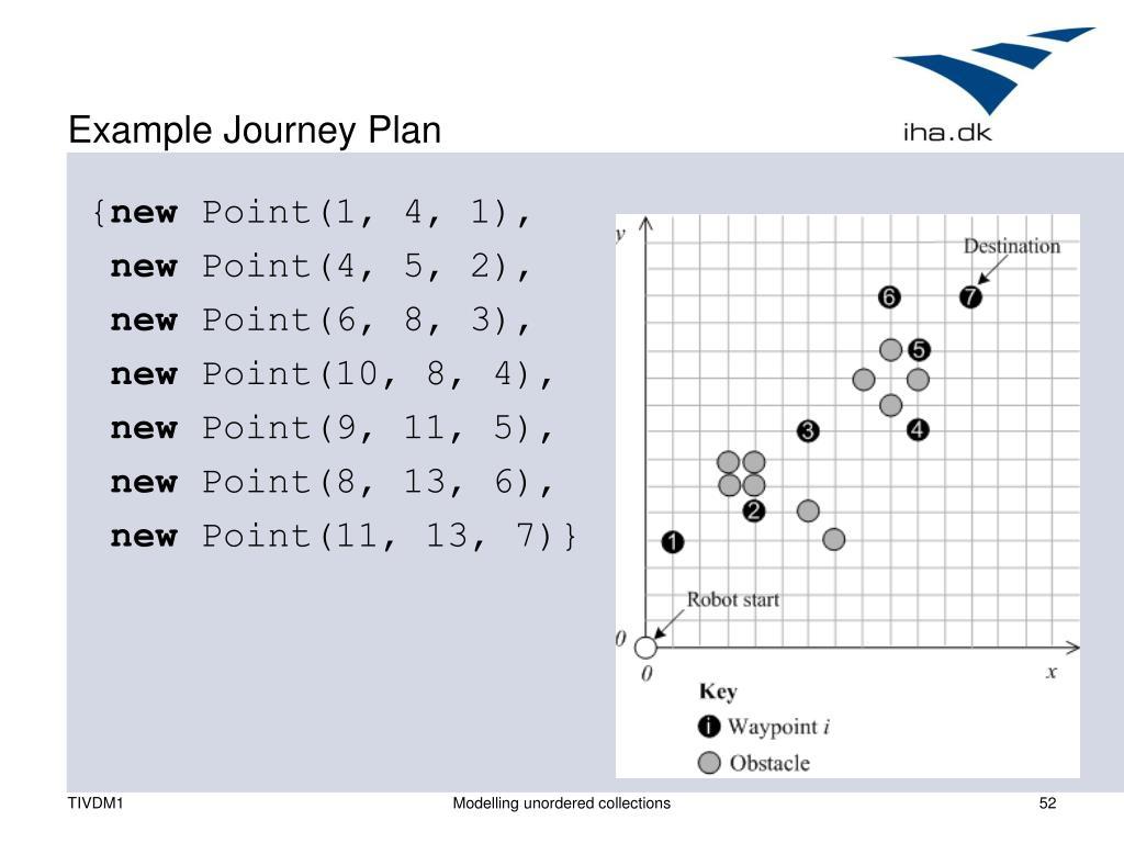 Example Journey Plan