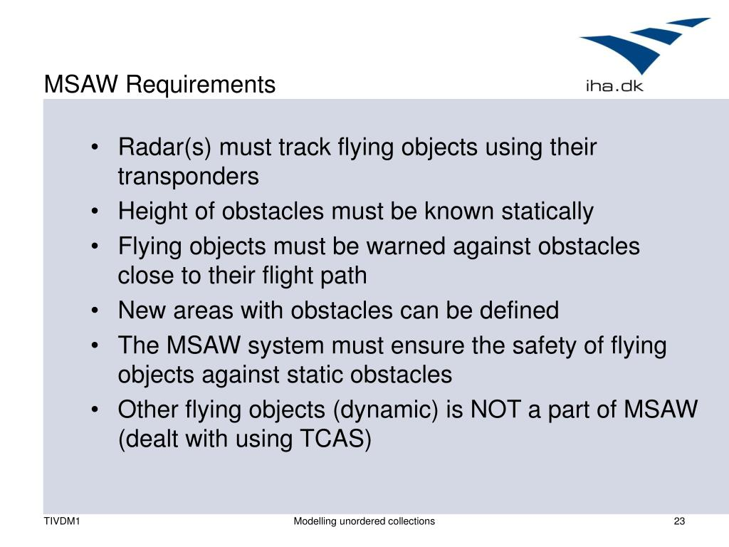 MSAW Requirements