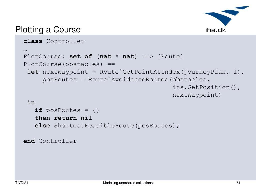 Plotting a Course