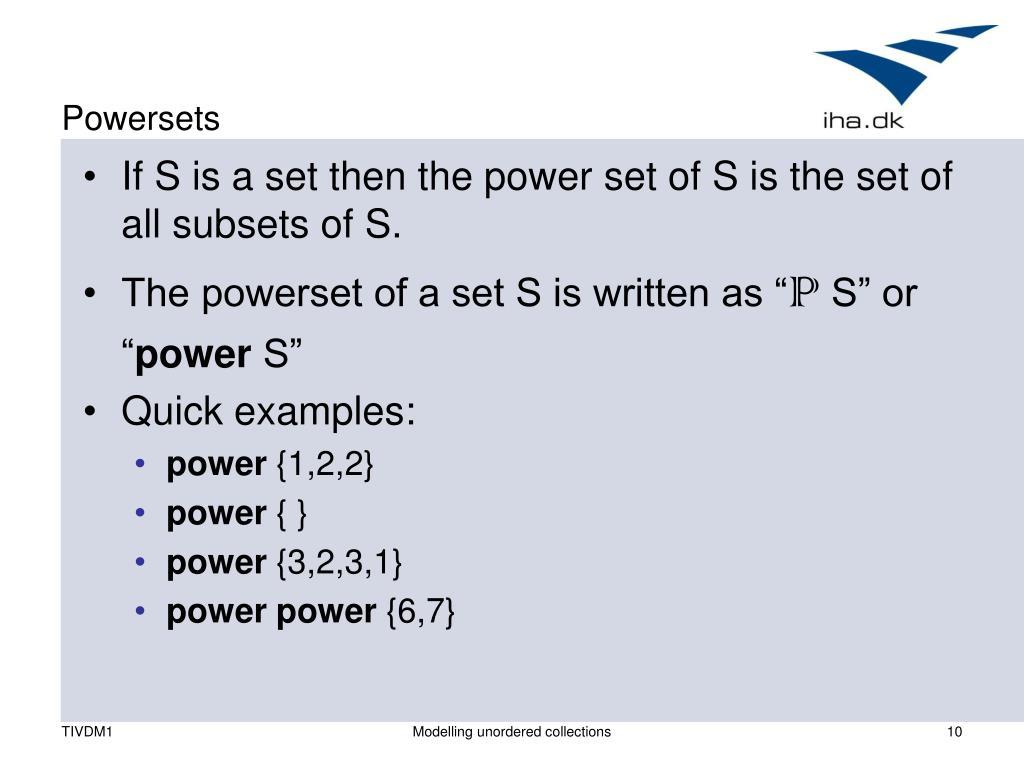 Powersets