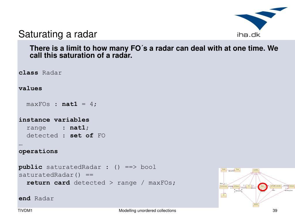 Saturating a radar