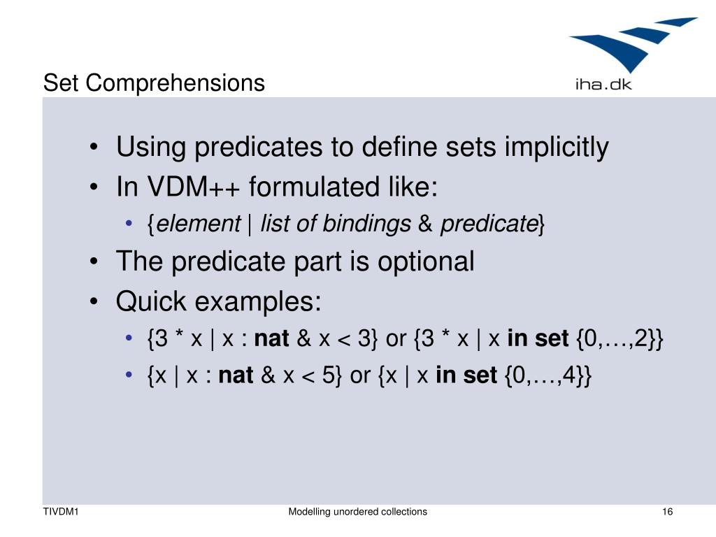 Set Comprehensions