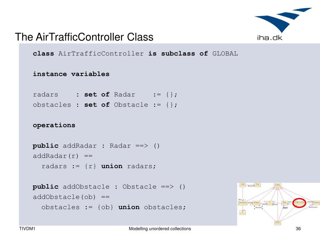 The AirTrafficController Class