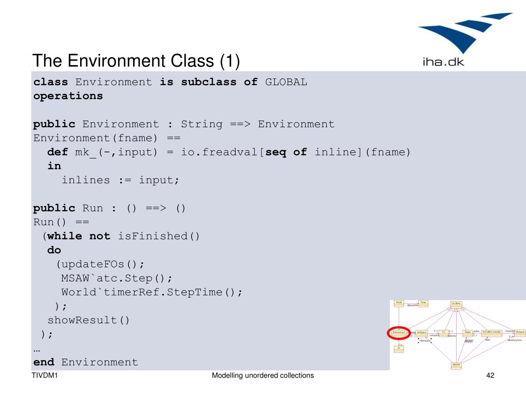 The Environment Class (1)