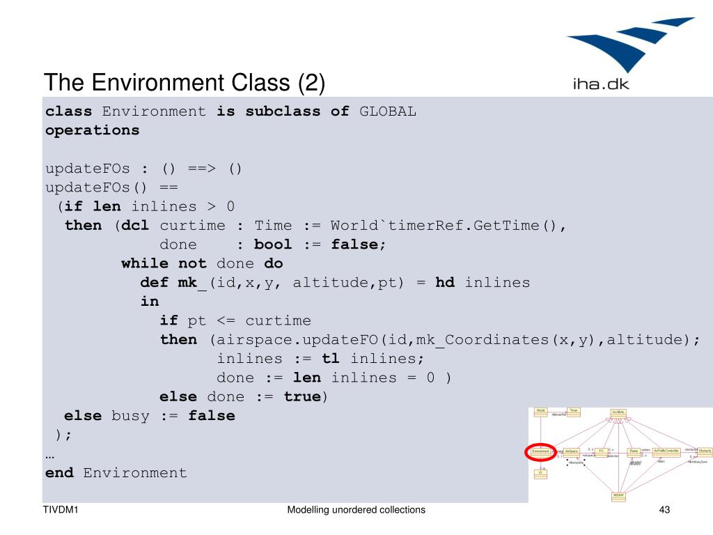 The Environment Class (2)