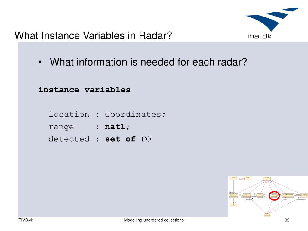 What Instance Variables in Radar?