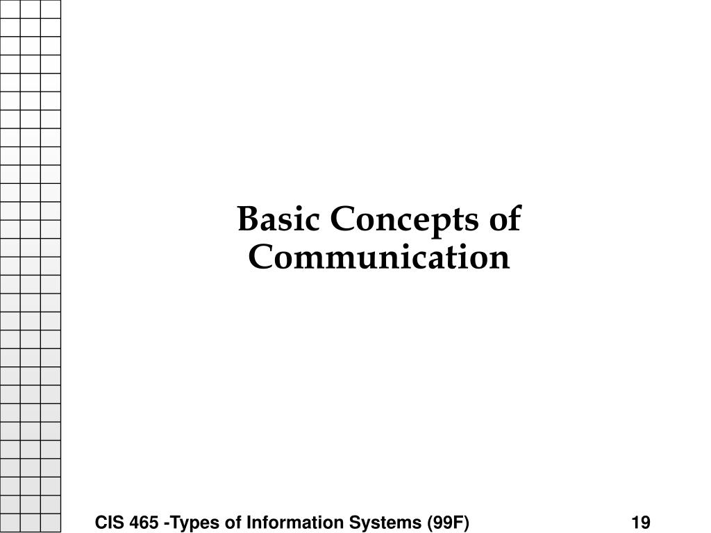 Basic Concepts of Communication