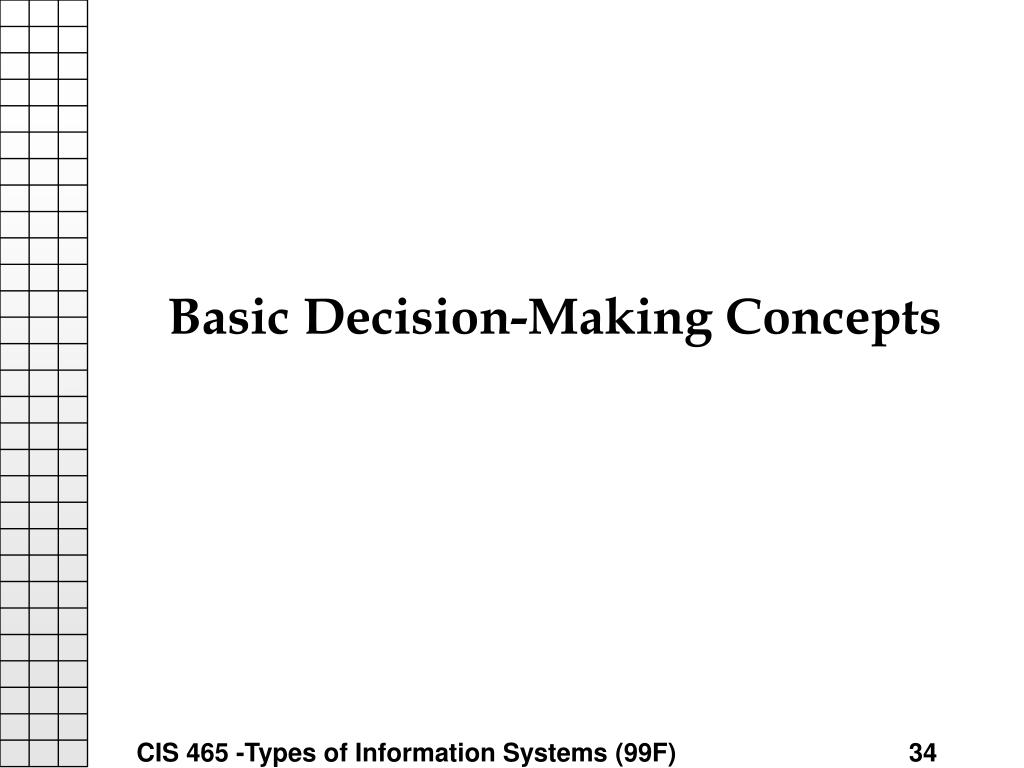 Basic Decision-Making Concepts