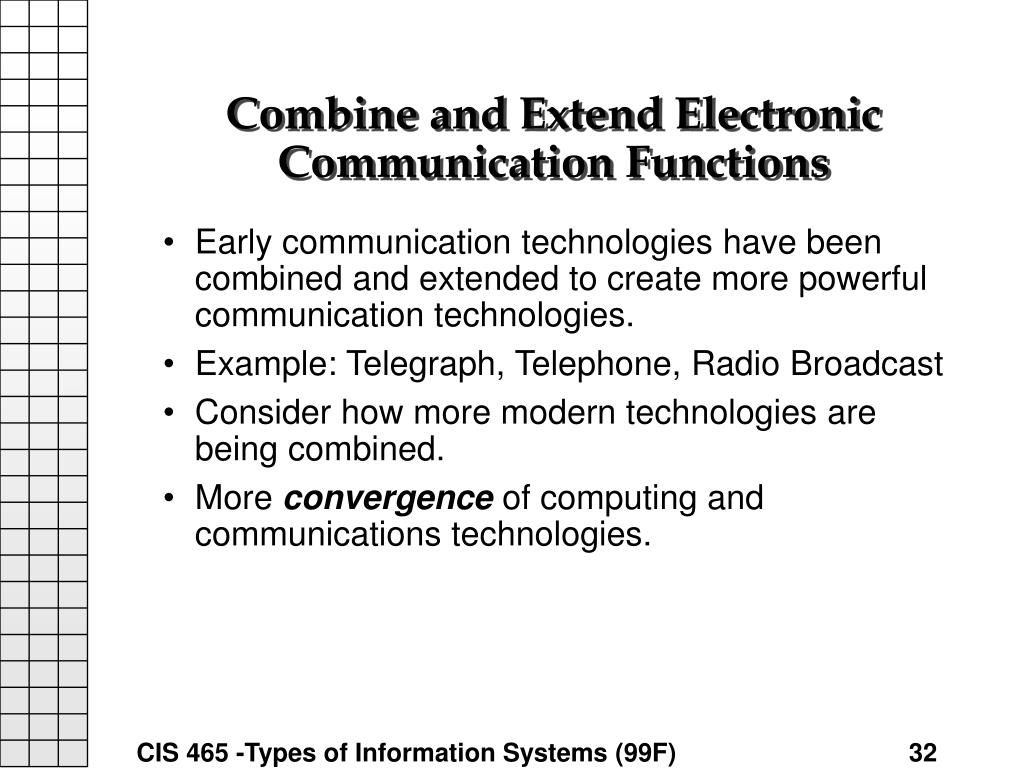 Combine and Extend Electronic Communication Functions