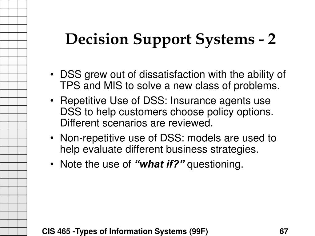 Decision Support Systems - 2