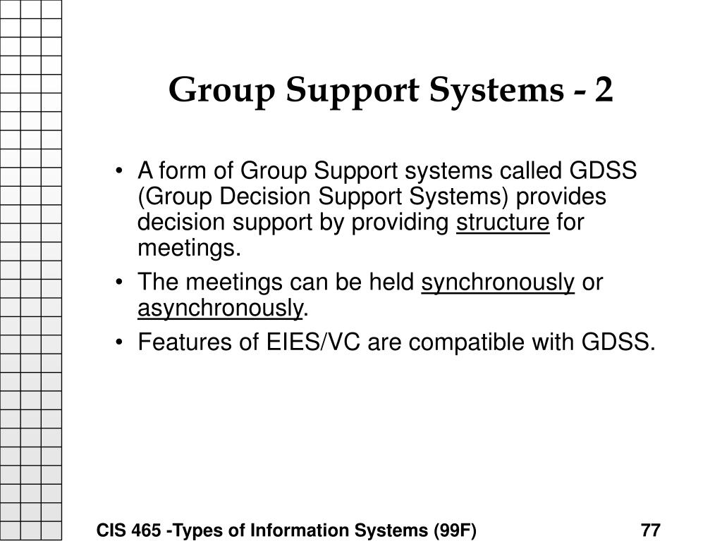 Group Support Systems - 2