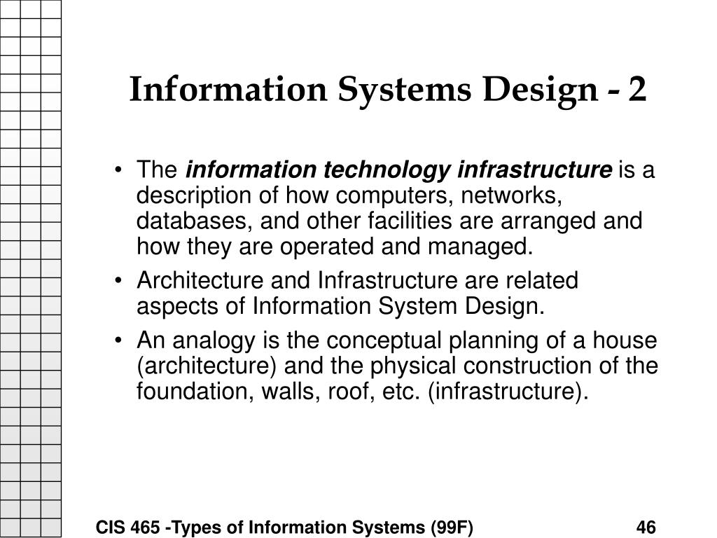 Information Systems Design - 2