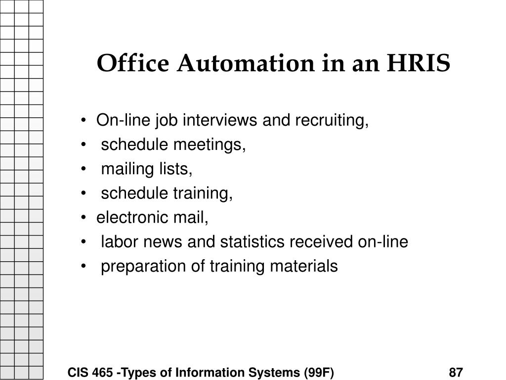 Office Automation in an HRIS