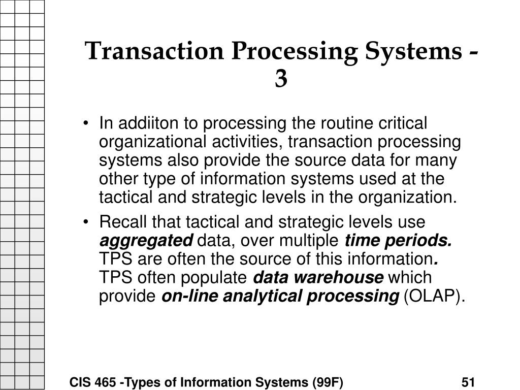 Transaction Processing Systems - 3