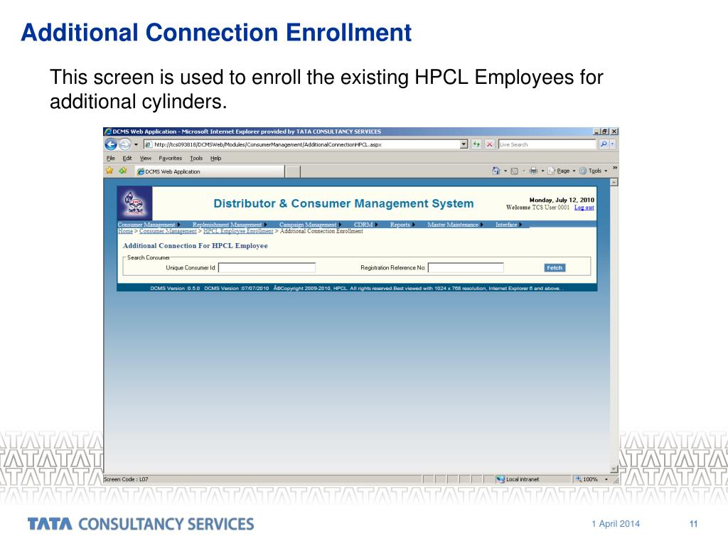 Additional Connection Enrollment