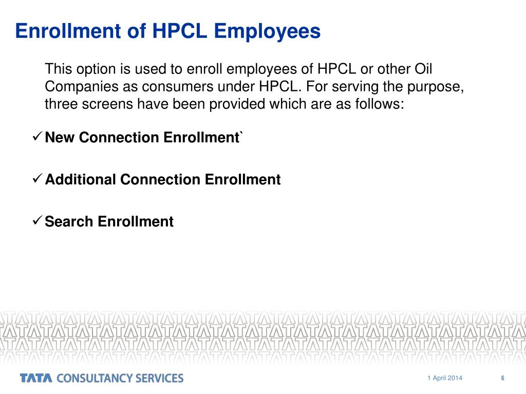 Enrollment of HPCL Employees