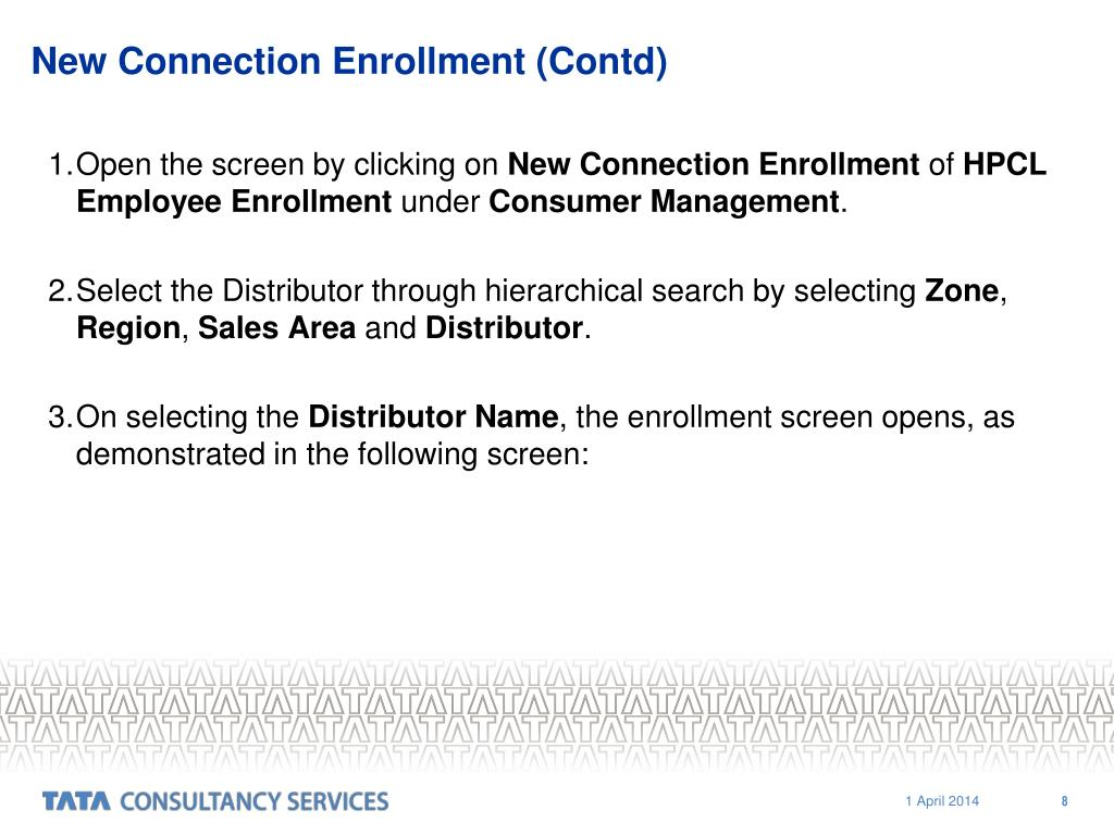 New Connection Enrollment (Contd)