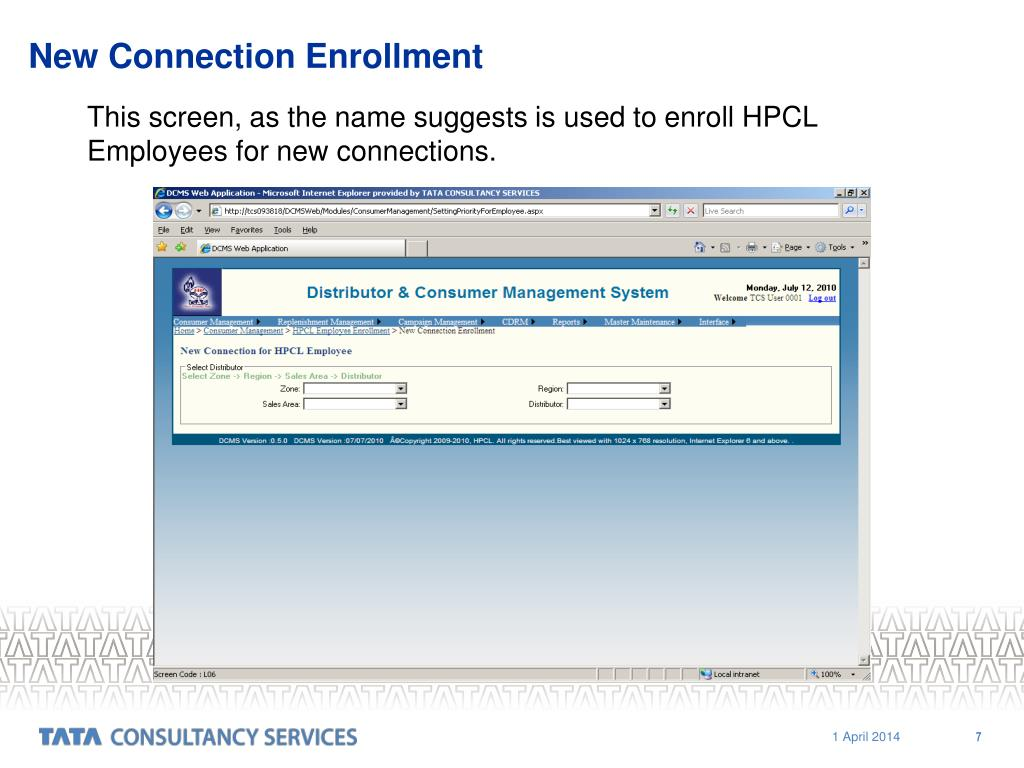 New Connection Enrollment