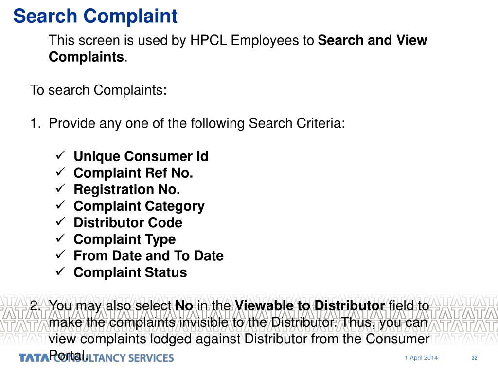Search Complaint
