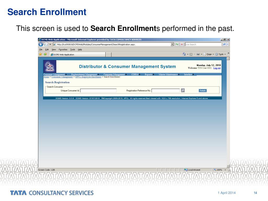 Search Enrollment