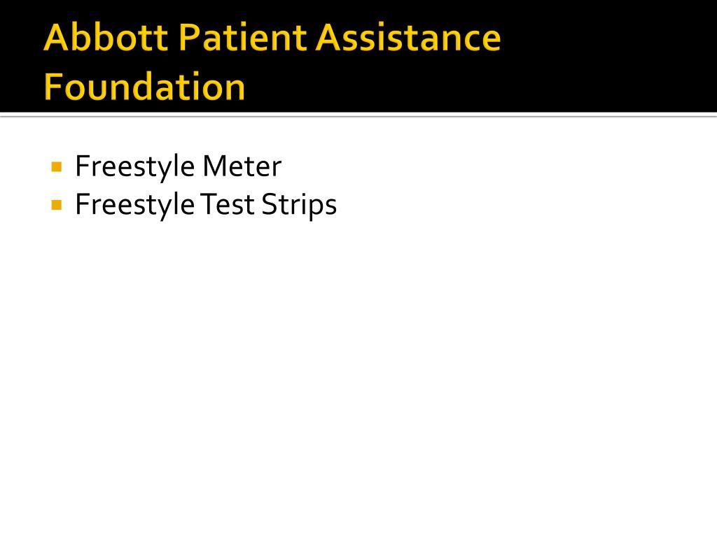 Abbott Patient Assistance Foundation