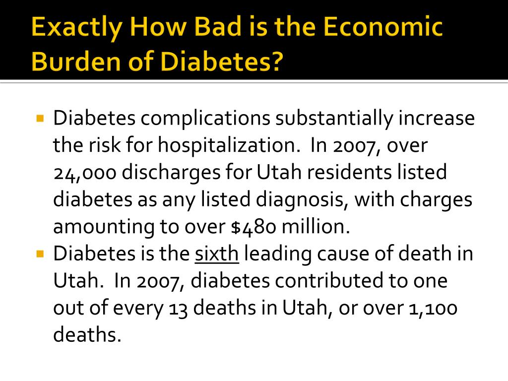 Exactly How Bad is the Economic Burden of Diabetes?