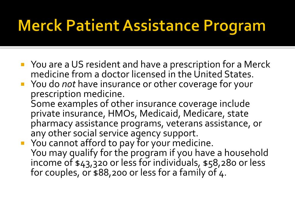 Merck Patient Assistance Program