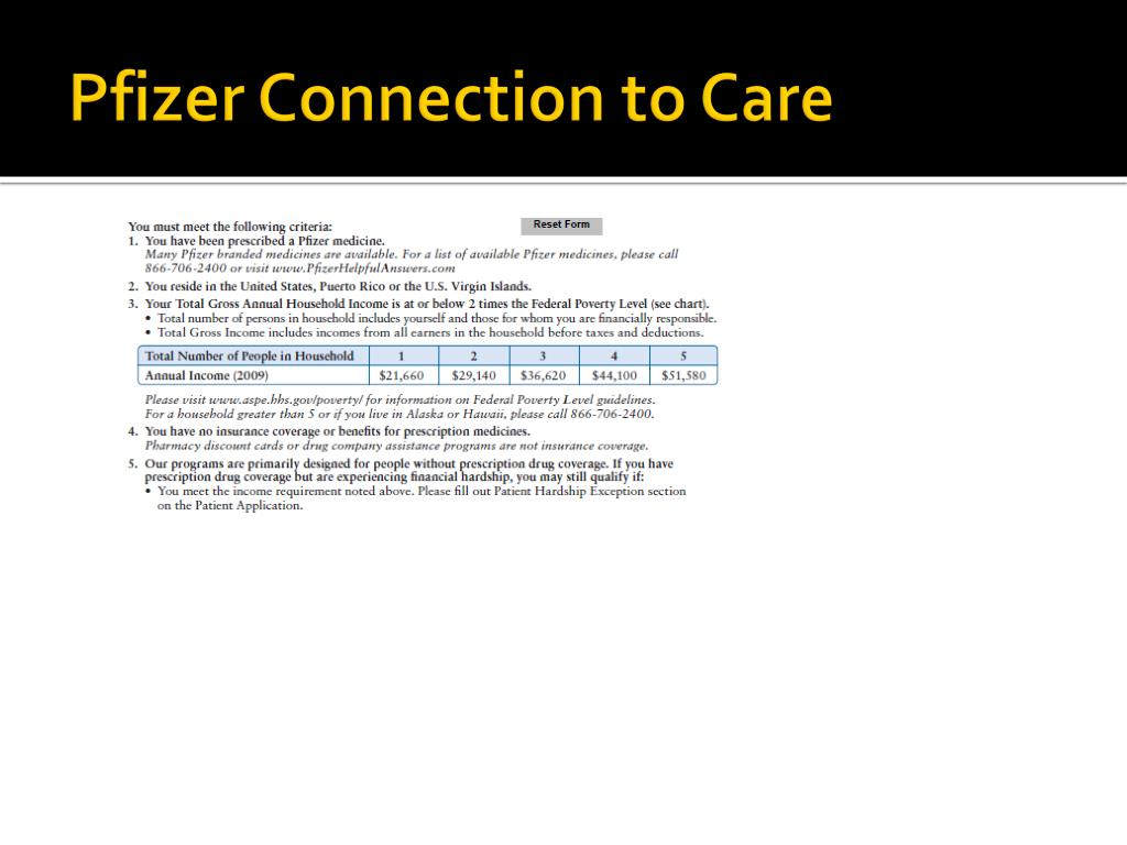 Pfizer Connection to Care