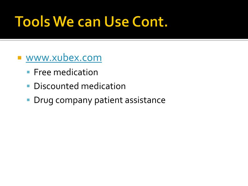 Tools We can Use Cont.