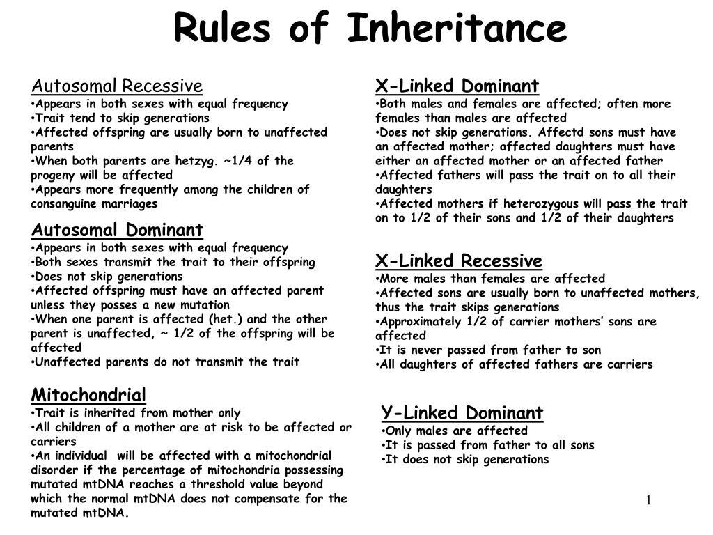 Rules of Inheritance