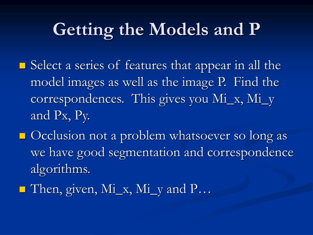Getting the Models and P