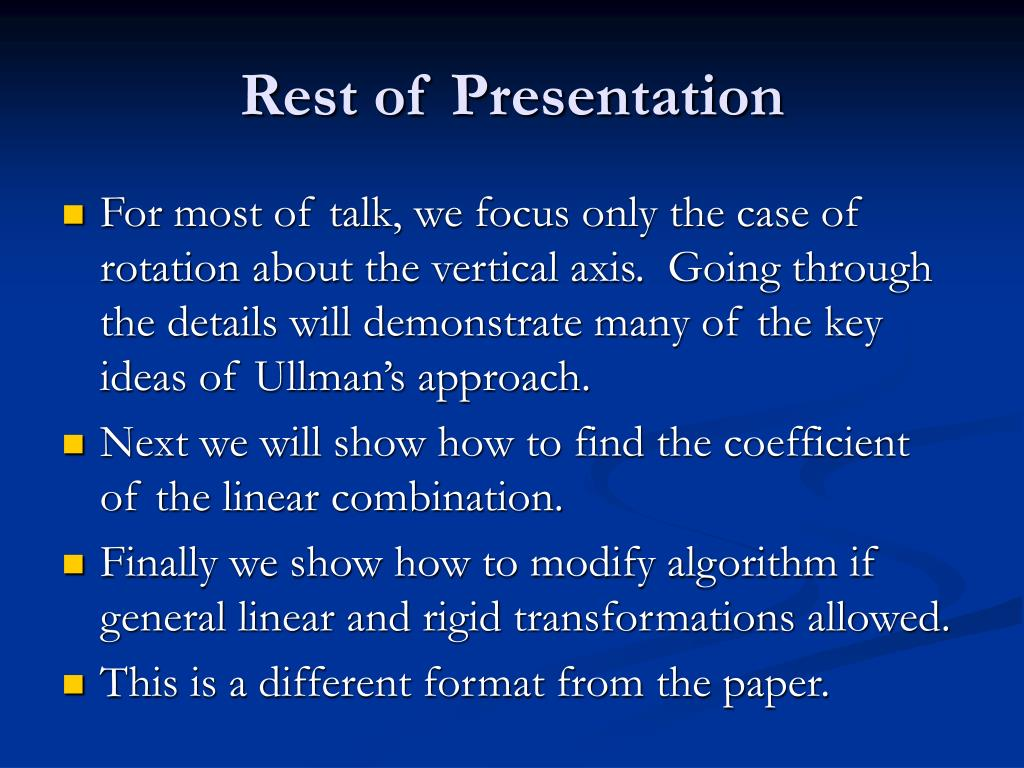 Rest of Presentation