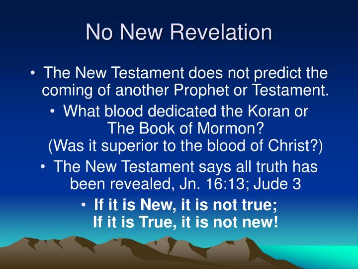 No New Revelation