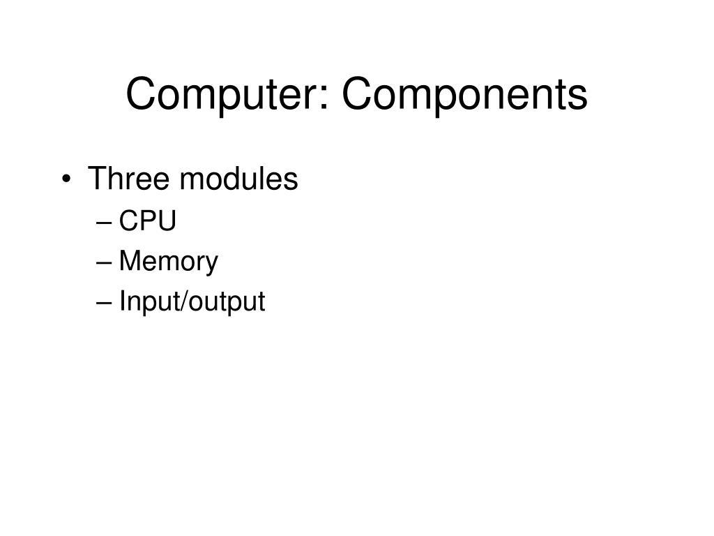 Computer: Components