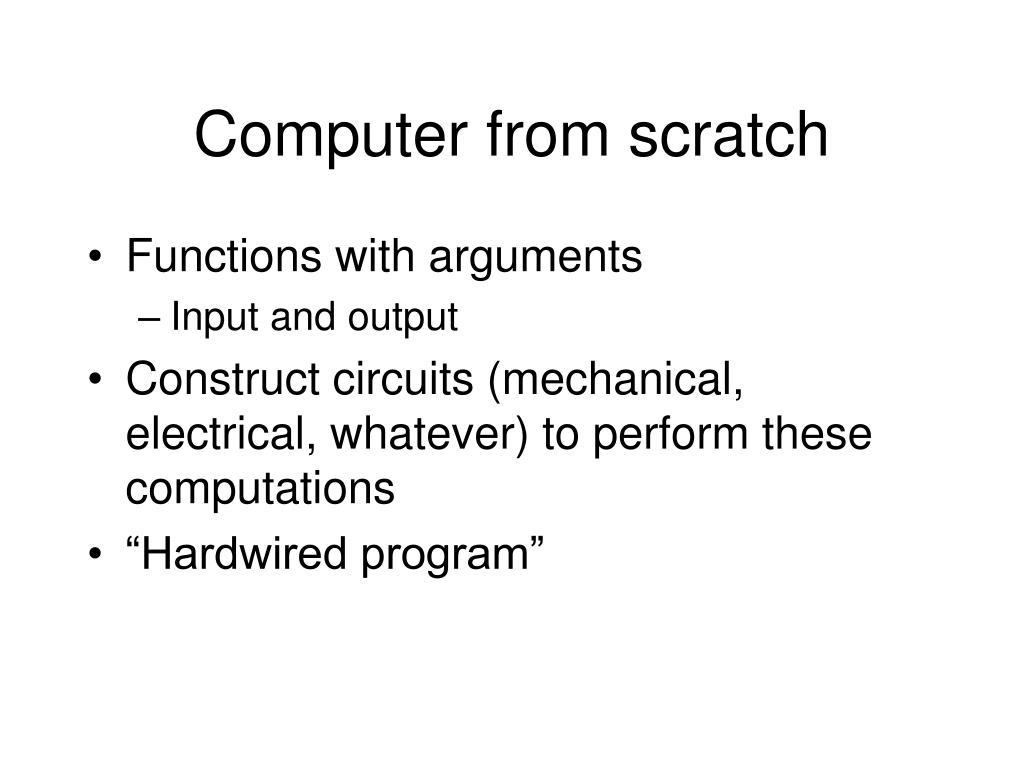 Computer from scratch