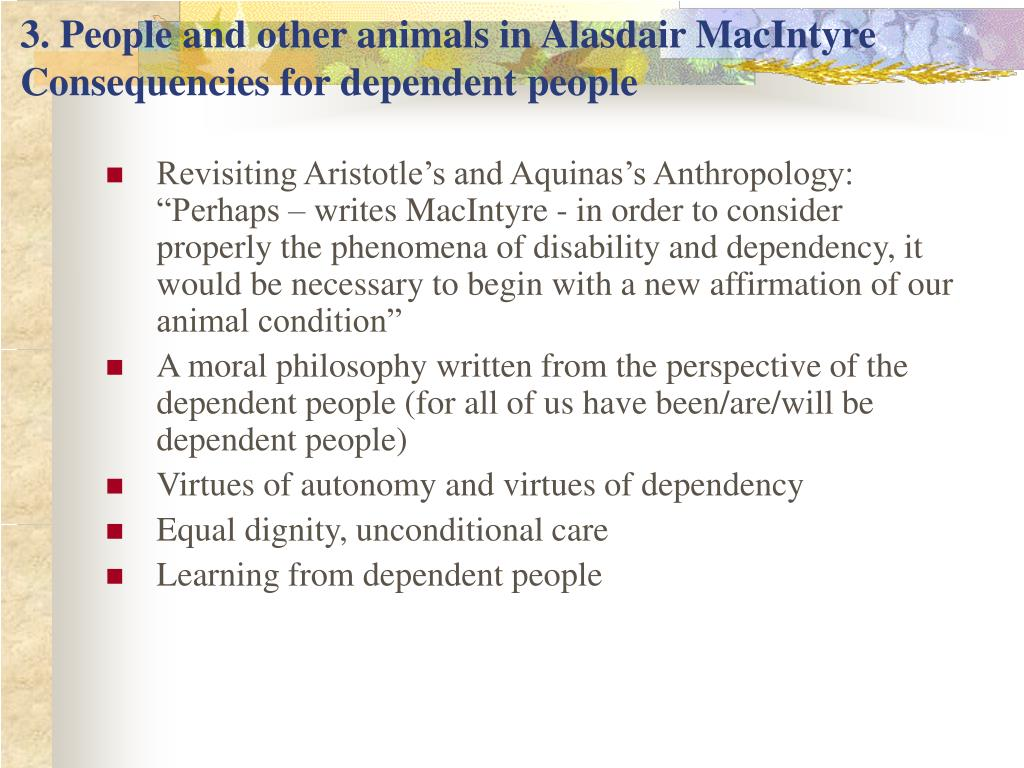 3. People and other animals in Alasdair MacIntyre
