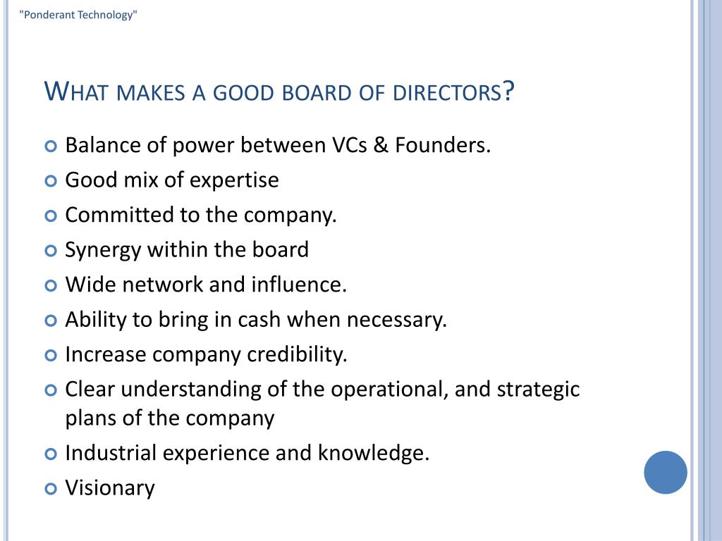 What makes a good board of directors?