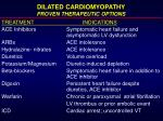 dilated cardiomyopathy proven therapeutic options