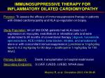 immunosuppressive therapy for inflammatory dilated cardiomyopathy