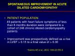 spontaneous improvement in acute dilated cardiomyopathy
