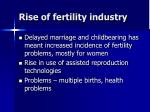rise of fertility industry