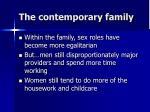 the contemporary family