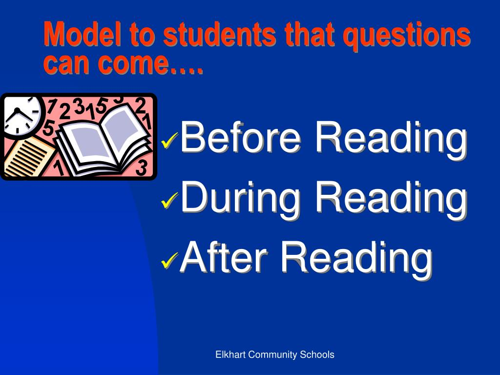 Model to students that questions can come….