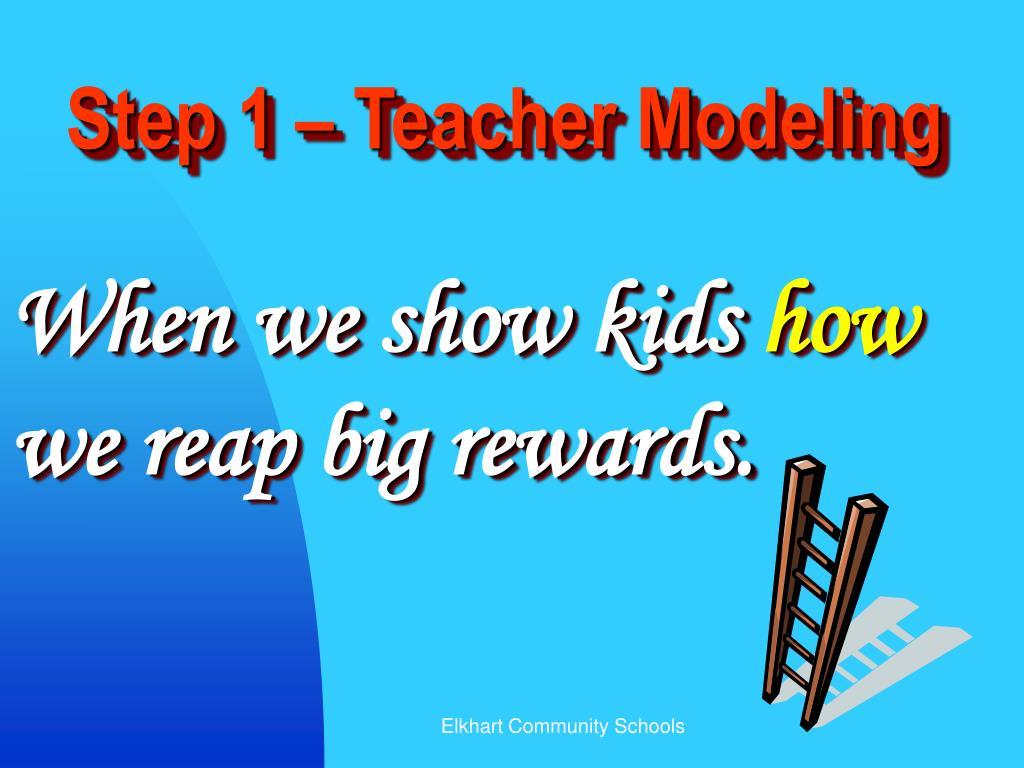 Step 1 – Teacher Modeling